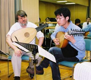 東京でのマスタークラス。受講生は坂本龍右さん