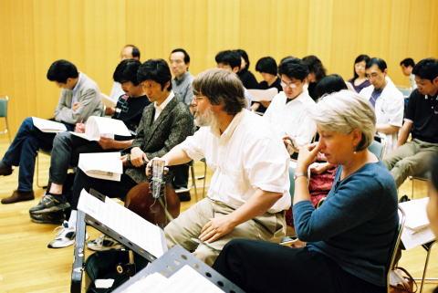 東京でのエレン・ハーギスとのマスタークラスのひとこま